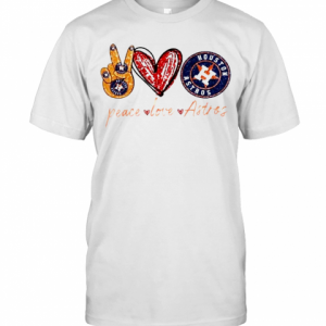Good Peace Love Astros Houston Astros T-Shirt Classic Men's T-shirt