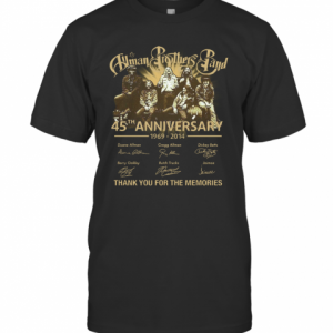 Human Brothers Band 45Th Anniversary 1969 – 2014 Thank You For The Memories And Members Signature T-Shirt Classic Men's T-shirt