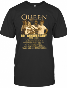 Queen 50Th Anniversary 1970 2020 Thank You For The Memories T-Shirt