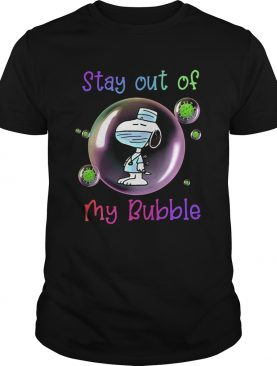 Snoopy Mask Stay Out Of My Bubble shirt