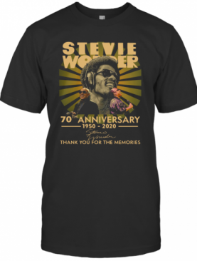 Stevie Wonder 70Th Anniversary 1950 2020 Signature Thank You For The Memories T-Shirt
