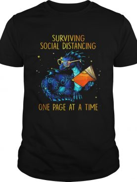 Surviving social distancing one page at a time Dragon shirt