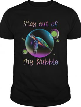 Turtle stay out my bubble coronavirus mask shirt