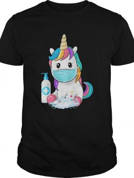 Unicorn mask hand wash shirt