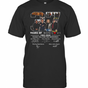 37 Years Of Bon Jovi 1983 2020 Thank You For The Memories Signatures T-Shirt Classic Men's T-shirt