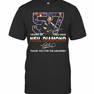 57 Years Of Neil Diamond 1963 2020 Signature Thank You For The Memories T-Shirt Classic Men's T-shirt