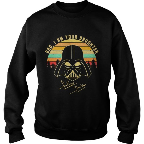 Amazing Mandalorian Dad I Am Your Daughter Signatures Vintage  Sweatshirt