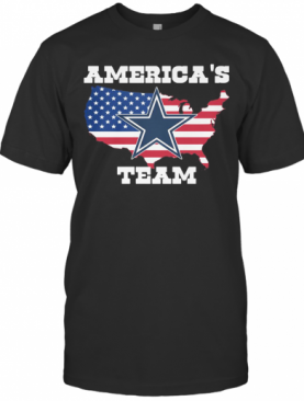 America'S Team American Flag Veteran Independence Day Dallas Cowboys T-Shirt
