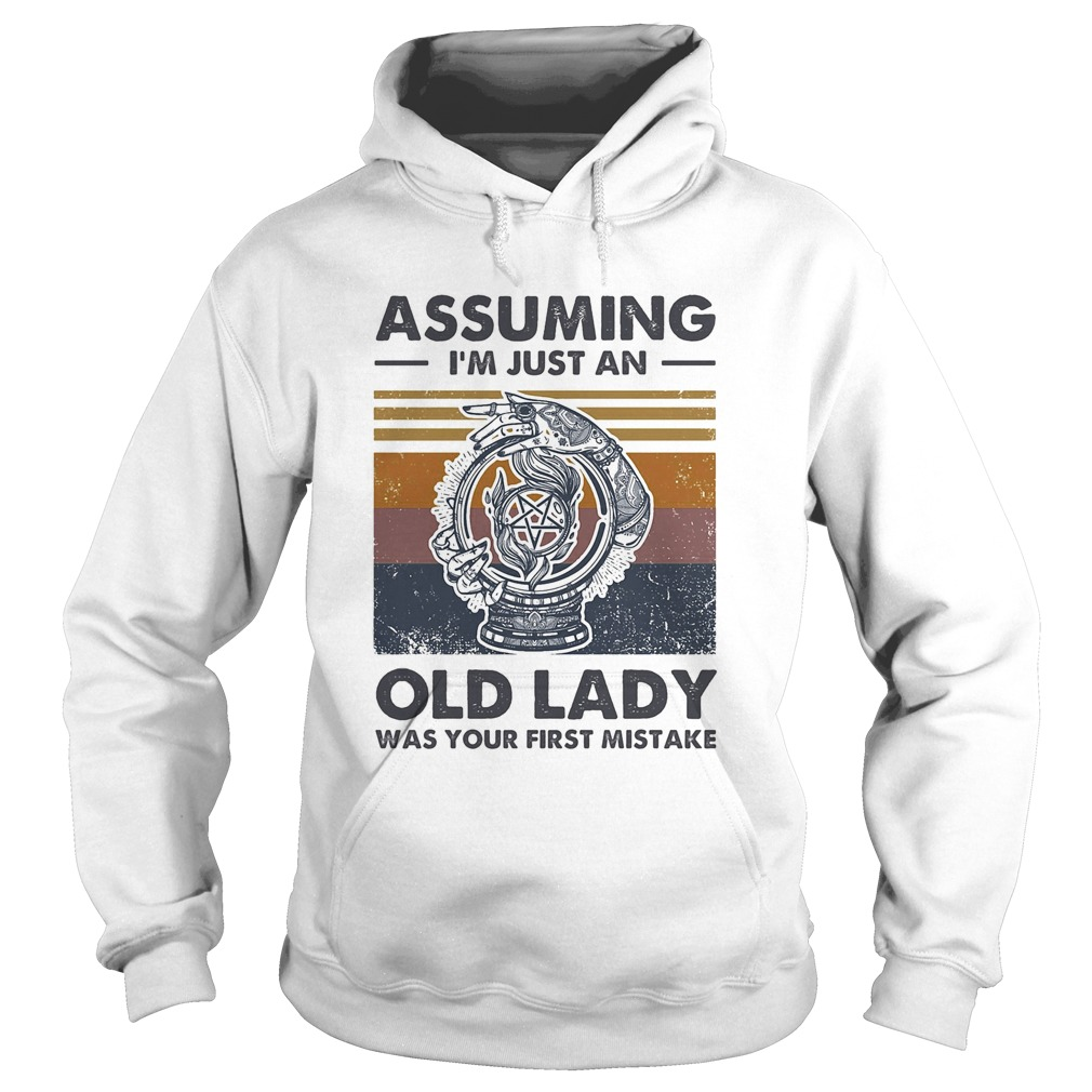 Assuming Im just an old lady was your first mistake vintage Hoodie