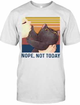 Black Cat Nope Not Today Vintage T-Shirt