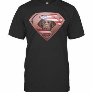 Blood Insides Superman Labrador Retriever American Flag Independence Day T-Shirt Classic Men's T-shirt