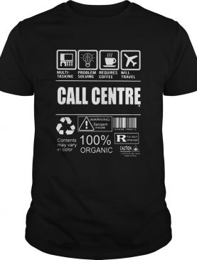 Call centre 100 percent organic contents may vary in color shirt