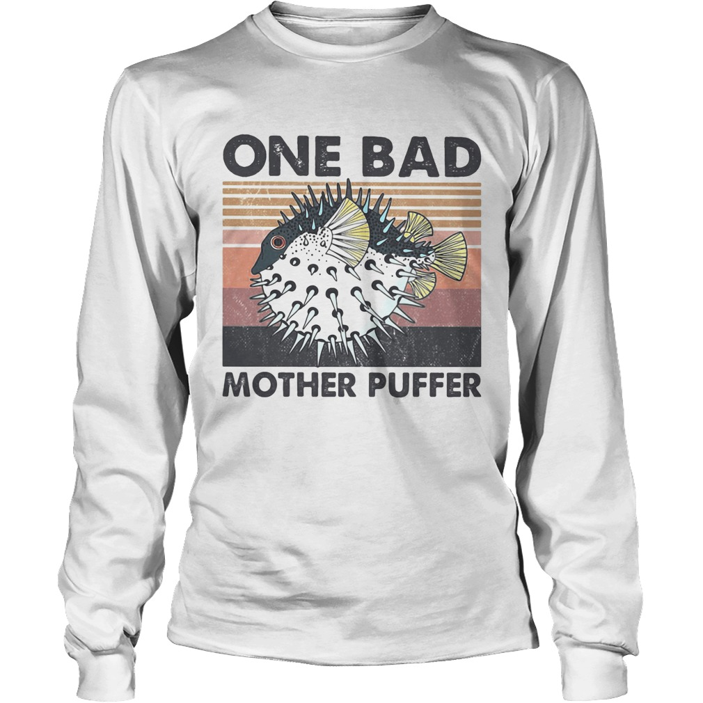 Fish one bad mother puffer vintage Long Sleeve