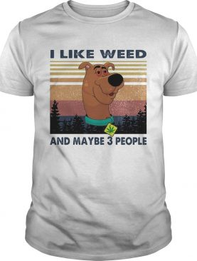 I like weed and maybe 3 people dog weed vintage shirt