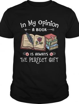 In my opinion a book is always the perfect gift flowers shirt