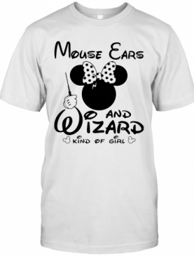 Minnie Mouse Ears And Wizard Kind Of Girl T-Shirt