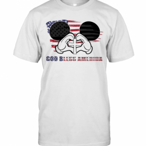 Mickey Mouse God Bless America Flag Independence Day T-Shirt Classic Men's T-shirt