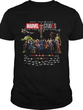 More than hero marvel studios the first ten years signatures shirt