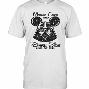 Mouse Ears And Dark Side Kindgirl Diamond T-Shirt Classic Men's T-shirt
