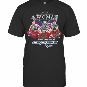 Never Underestimate A Woman Who Understands Hockey And Loves Capitals T-Shirt Classic Men's T-shirt