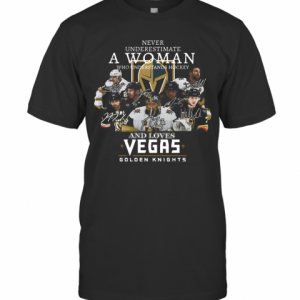 Never Underestimate A Woman Who Understands Hockey And Loves Vegas Golden Knights T-Shirt Classic Men's T-shirt
