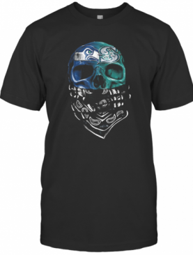Skull Seattle Seahawks And Seattle Mariners T-Shirt