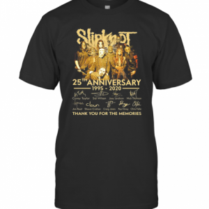 Slipknot 25Th Anniversary 1995 2020 Signature Thank You For The Memories T-Shirt Classic Men's T-shirt