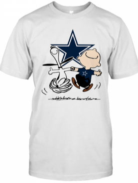 Snoopy And Charlie Brown Dallas Cowboys Football T-Shirt