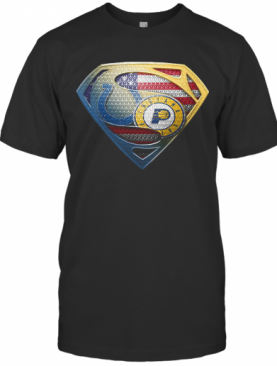 Superman Boise State And Indiana Pacers American Flag Independence Day T-Shirt