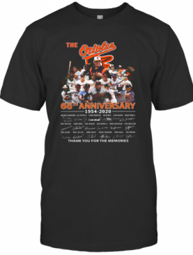 The Orioles 66Th Anniversary 1954 2020 Signature Thank You For The Memories T-Shirt