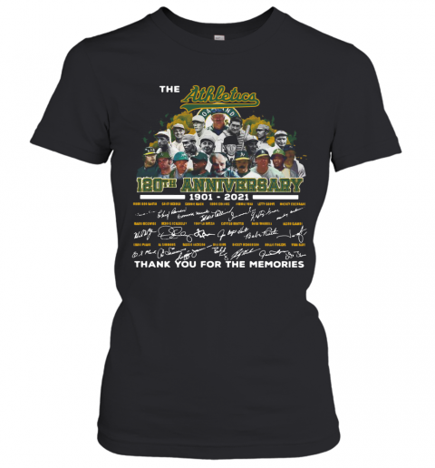 The Athletics 120Th Anniversary 1901 2021 Thank You For The Memories Signatures T-Shirt Classic Women's T-shirt