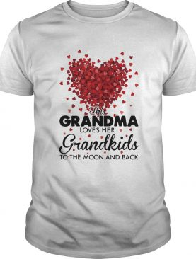 This grandma loves her grandkids to the moon and back heart shirt