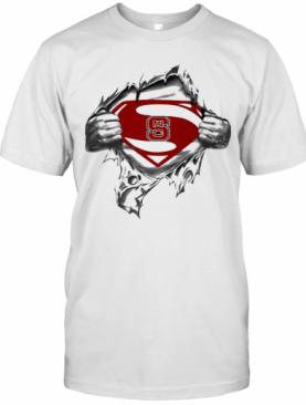 Blood Insides Superman North Carolina State T-Shirt
