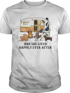 Camping fire and she lived happily ever after shirt
