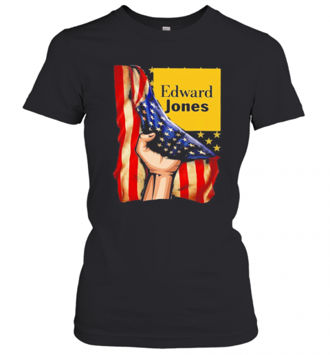 Edward Jones American Flag Independence Day T-Shirt Classic Women's T-shirt