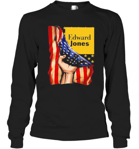 Edward Jones American Flag Independence Day T-Shirt Long Sleeved T-shirt