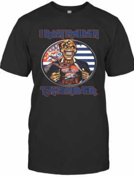 Iron Maiden Oklahoma City Thunder American Flag Independence Day T-Shirt