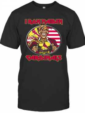 Iron Maiden St. Louis Cardinals American Flag Independence Day T-Shirt