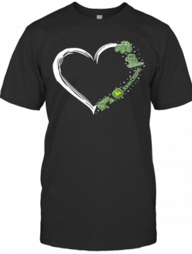 Love John Deere Logo Hearts T-Shirt