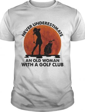 Never underestimate an old man with a golf club shirt