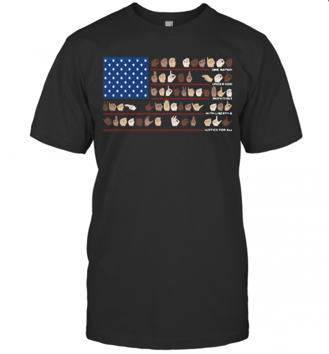 One Nation Under God Indivisible With Liberty And Justice For All T-Shirt Classic Men's T-shirt