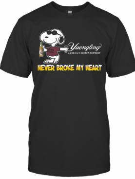 Snoopy Yuengling America'S Oldest Brewery Beer Never Broke My Heart T-Shirt