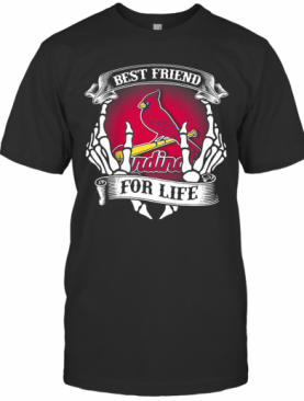 St. Louis Cardinals Best Friend For Life Seketon T-Shirt