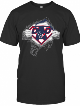 Superhero National Football League Houston Texans Father's Day T-Shirt