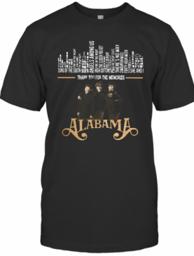 Thank You For The Memories Alabama Band T-Shirt