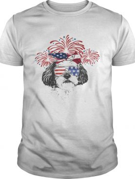 Yorshire terrier American flag veteran Independence Day shirt