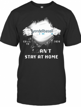 Blood Insides Hyondell Baseball Covid 19 2020 I Can'T Stay At Home T-Shirt