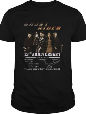 Ghost rider 13th anniversary 2007 2020 thank you for the memories signatures shirt
