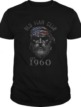 Old man club est 1960 american flag independence day shirt