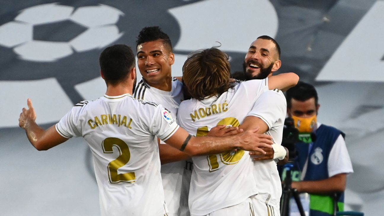 Real Madrid clinch La Liga title with win over Villarreal